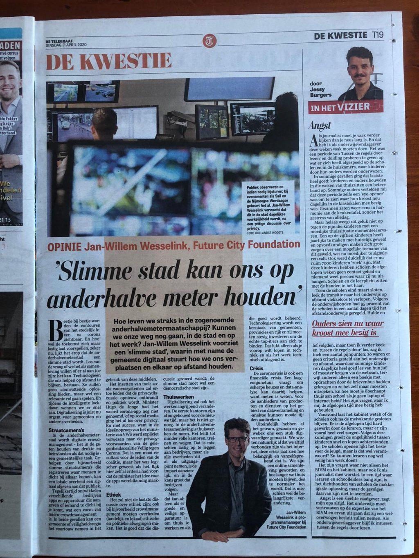 Onze 1,5m-visie in de Telegraaf